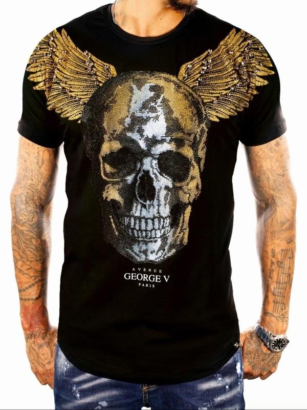 t shirt goerge v black gold