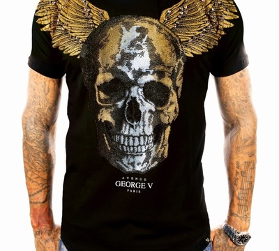 T-shirt GEORGE V black gold