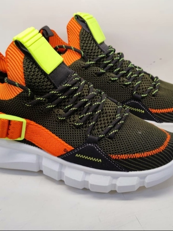 basket kaki/orange
