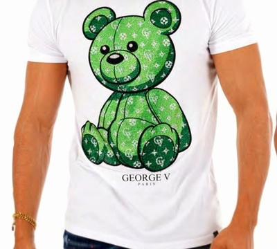 T-shirt GEORGE V ours / white green