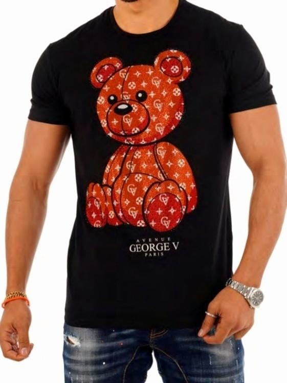 T-shirt GEORGE V ours /BLACK ORANGE