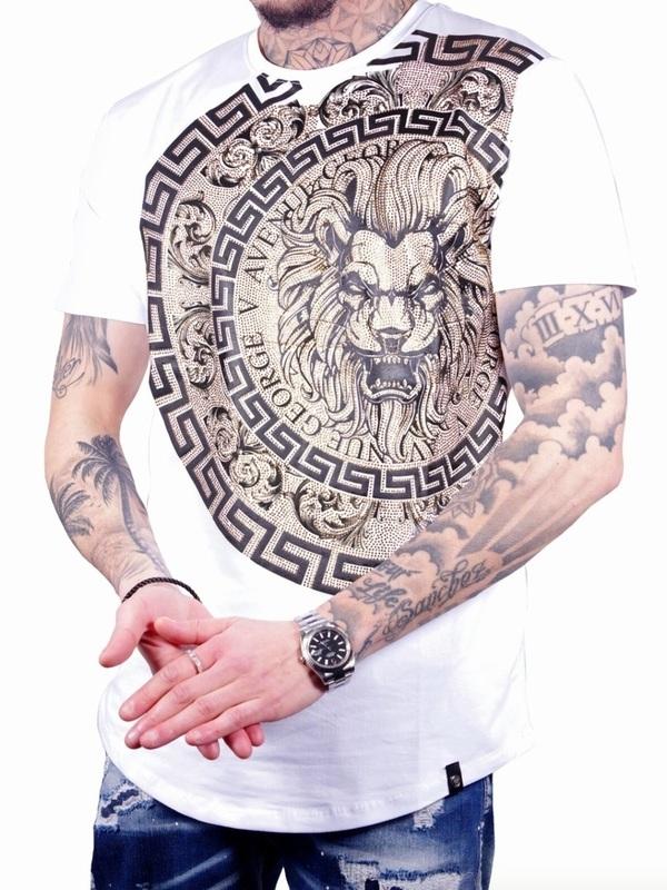t shirt goerge v  lion/ white