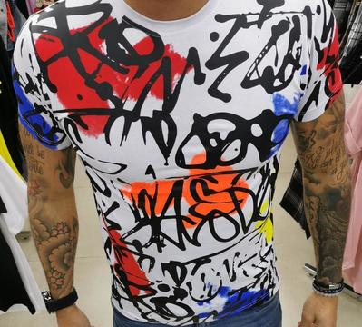 T-shirt graff orange