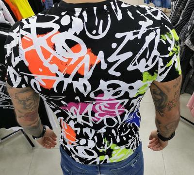 T-shirt graff rose