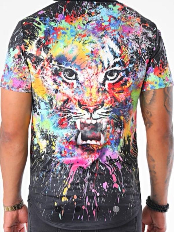 T shirt tigre NOIR
