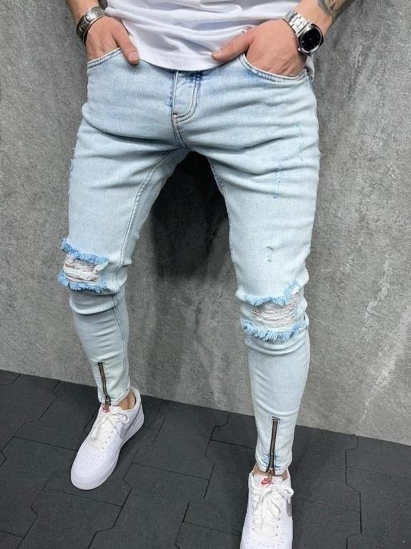 Jeans bleu ciel clair
