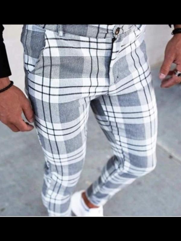 Pantalon Classique A Carreau (FRILIVIN)