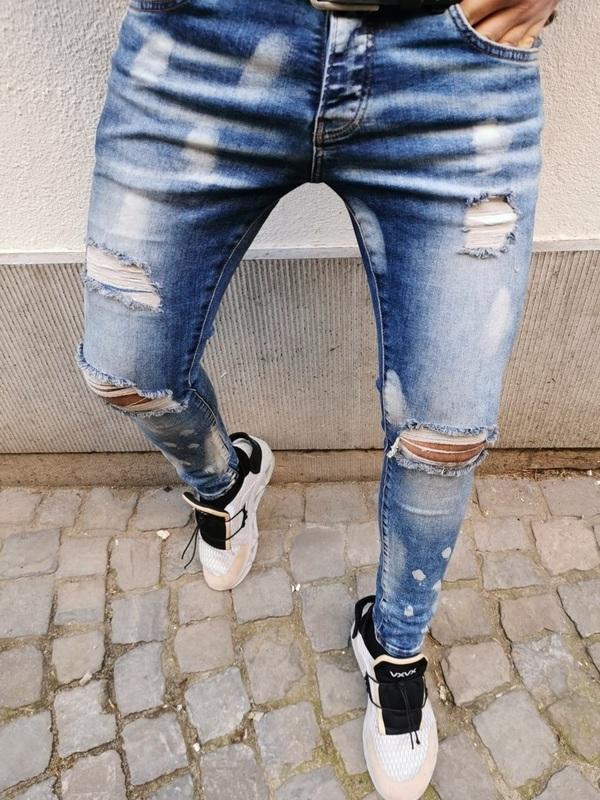 jeans skinny bleu ciel