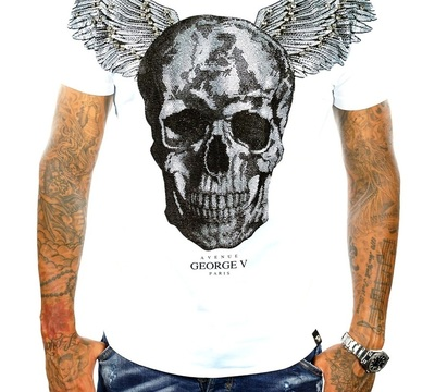 T-shirt GEORGE V white silver