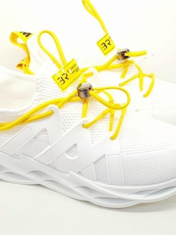 basket blanche /jaune